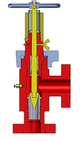drawing of adjustable choke valve